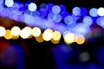 Обои Огни ночного города на размытом фоне