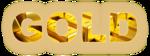 Обои Составленное из золотых слитков слово GOLD / ЗОЛОТО, на размытом фоне, by Greg Reese
