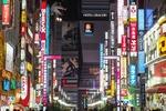 Обои Огни ночного Токио / Tokyo, район Kabuki / Кабуки, Япония / Japan