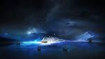 Обои Корабли плывут по направлению к спящему на облаке космонавту, by t1na