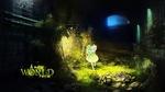 Обои Маленькая фея залетела в полу разрушенный подвал старого заброшенного дома, A new World, Fary law