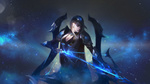 Обои Heartseeker Ashe / Чейзом Аше из игры League of Legends / Лига Легенд, by Gallagxher
