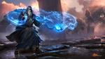 Обои Маг выпускает из волшебного кристалла огненного зверя, арт к игре Rise Of The Overlords / Восхождение Повелителей, by Greg Rutkowski