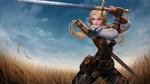 Обои Девушка-воин Butterfly / Бабочка с мечом, персонаж игры Arena of Valor / Арена Доблести