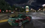Обои Автомобиль Toyota Supra в игре NFS: Underground, пытающийся войти в поворот на скорости