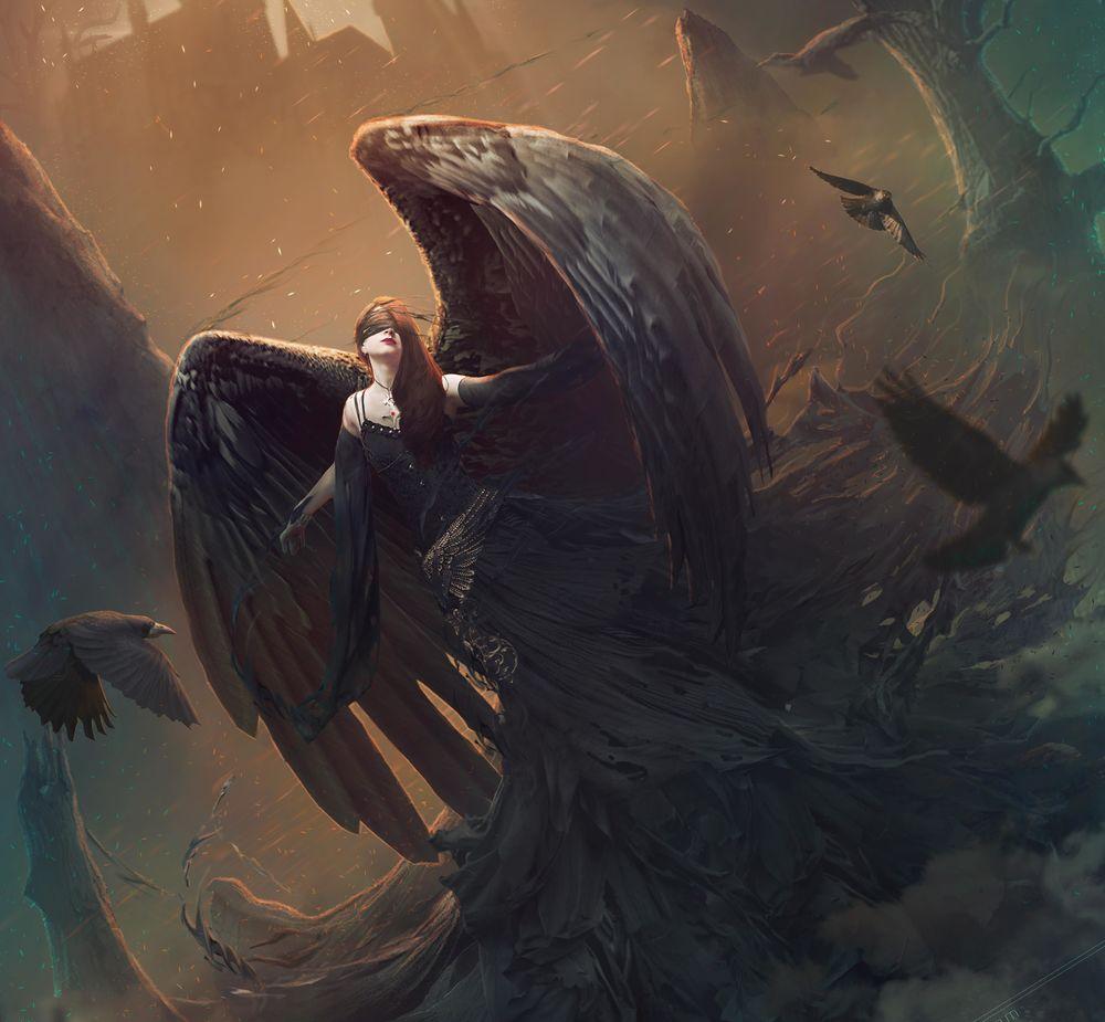 Обои для рабочего стола Темный ангел Annabelle / Аннабель, by zacky7avenged