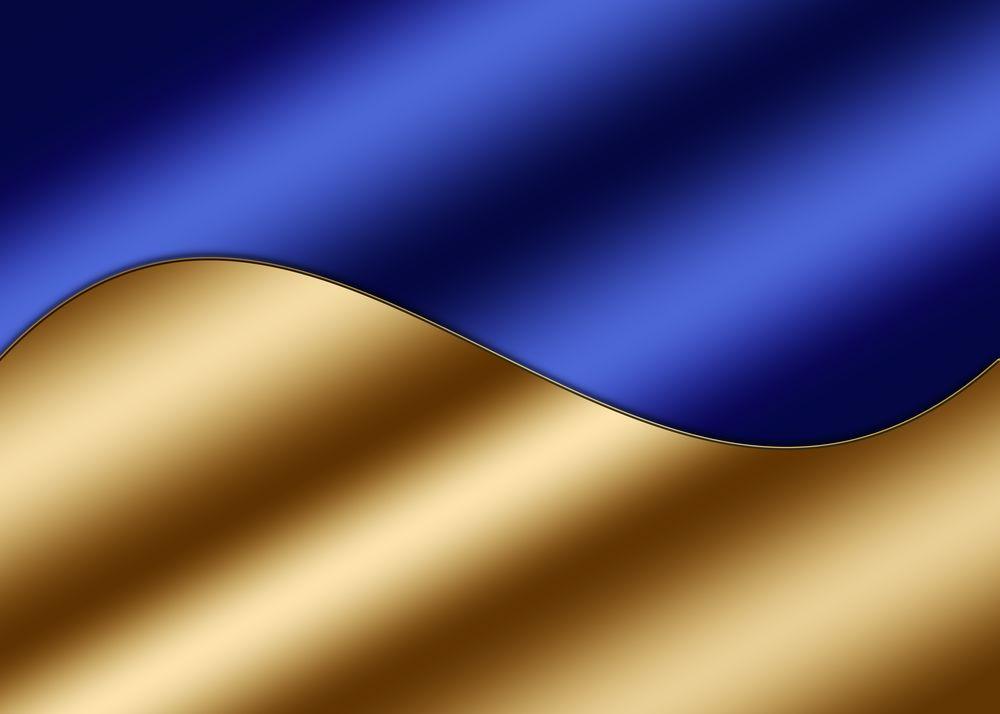 Обои для рабочего стола Векторный абстрактный фон, синий с золотом