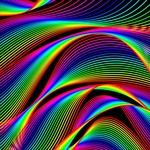 Обои Абстрактный векторный рисунок волнообразных, цветных полос