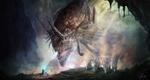 Обои Огромный рогатый дракон смотрит на рядом стоящего волшебника, by Shue13