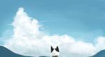 Обои Кошка на фоне облачного неба, by xixi_minmin