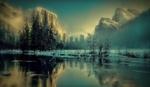 Обои Зимний пейзаж природы, Yosemite national Park, California, USA / Йосемитский национальный парк, Калифорния, США, by Gerd Altmann