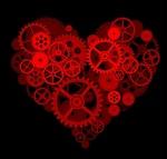 Обои Абстрактное сердце из шестеренок