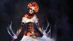 Обои Девушка в образе Santa Muerte / Святой Смерти