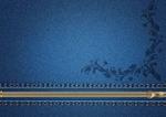 Обои Синяя джинсовая ткань с молнией и узором, by Larisa Koshkina