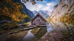 Обои Дом на горном озере Обер, Бавария / Aubert, Bavaria, фотограф Kai Hornung