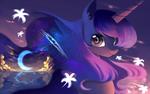 Обои Princess Luna / Принцесса Луна из мультсериала My Little Pony: Friendship Is Magic / Мои маленькие пони: Дружба — это чудо, by Gianghanz