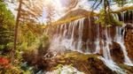 Обои Водопад в национальном парке Цзючжайгоу, Китай / Jiuzhaigou, China