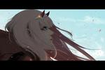 Обои Zero Two / Зеро Ту из аниме Darling in the FranXX / Милый во Франкcе, by Tjahjosetiawan