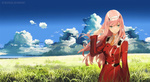 Обои Zero Two / Зеро Ту из аниме Darling in the FranXX / Милый во Франкcе, by DetachSoul