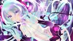 Обои Vocaloid Hatsune Miku / Вокалоид Хацуне Мику, by sculp2