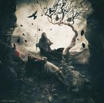Обои Nazgul / Назгул с мечом стоит около лежащей девушки, связанной цепью, by Mehdi Mostefai