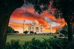 Обои Вид наTaj Mahal, India / Тадж-Махал, Индия, by Jacob Riglin