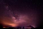 Обои Бордовое зарево в звездном небе от пожарища, by StockSnap