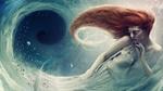 Обои Рыжеволосая девушка в космической туманности, by zacky7avenged