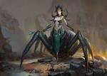 Обои Королева пауков, by zhen sun
