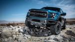 Обои Синий Ford F-150 Raptor стоит на камнях