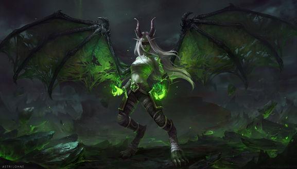 Демоница-Aeladori из игры World of Warcraft / Мир военного ремесла, by Astri Lohne