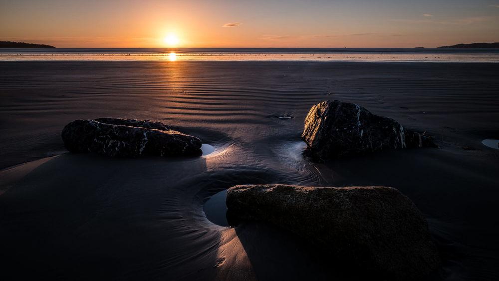 Обои для рабочего стола Восход солнца в Bull Island - Dublin, Ireland / Булл-Айленде - Дублин, Ирландия, фотограф Giuseppe Milo
