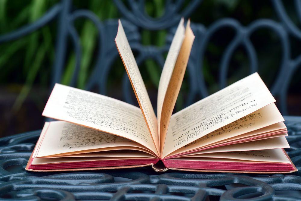 Картинка с открытыми книгами