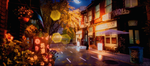 Обои Осенняя улица ночью