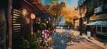 Обои Осенняя улица города