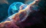 Обои Космическое пространство с огромным шаром, by JoeyJazz