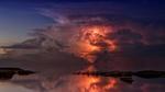 Обои Гроза над океаном в сумрачном небе, by jplenio