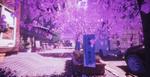 Обои Улица города в весеннем цвету