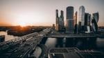 Обои Город Москва на закате солнца, Россия