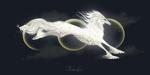Обои Фантастическое животное на фоне луны, by MischievousRaven
