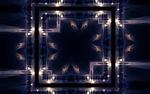 Обои Квадрат с волнами света, играющего на гранях, стоит на плоской поверхности