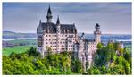 Обои Замок Neuschwanstein Castle in Bavaria, Germany / Нойшванштайн в Баварии, Германия, by pingallery