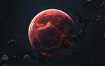 Обои Раскаленная планета в космосе, by Vadim Sadovski