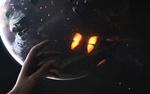Обои Рука человека тянется к бабочке на фоне планеты, фотограф Vadim Sadovski