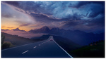 Обои Авто на дороге, ведущей в горы, by Ellysiumn Art
