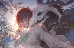 Обои Элиас Эйнсворт / Elias Ainsworth и Чисэ Хатори / Chise Hatori с магическим кулоном из аниме Невеста чародея / Mahoutsukai no Yome, by Fuwaffy