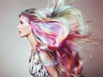 Обои Девушка с разноцветными волосами, ву Oleg Gekman