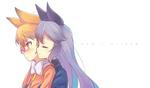 Обои Kitakitsune / Сахалинская Лисица и Gingitsune / Чернобурая Лисица из аниме Kemono Friends / Друзья-зверушки, by CyanAeolin