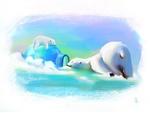 Обои Полярные медведи на снегу, by Esmeralda Platania