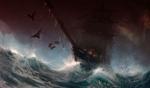 Обои Фрегат в бушующем море, Last voyage of the Demeter / Последнее путешествие Деметры, by Joakim Ericsson
